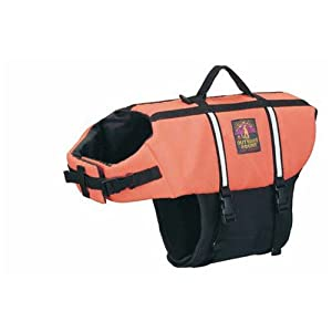 Kyjen Outward Hound Designer Pet Saver Life Jacket, Orange