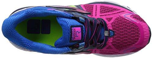 c97ab282a714 Brooks Womens Ravenna 6 Mesh Running Shoes (Pink Glow Electric Blue  Lemonade
