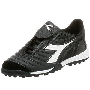 Diadora Men's Maracana TF Turf Soccer Shoe,Black/White,6.5 M