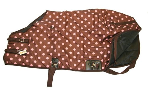 420D Medium Weight Horse Blanket Pink Polka Dots, 78