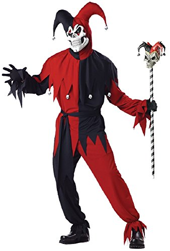 Evil Jester Costume - Large - Chest Size 42-44