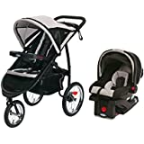Graco FastAction Fold Jog Stroller & SnugRide 30 Click Connect Car Seat - Pierce