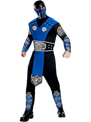 [Mortal Kombat Sub-Zero Jumpsuit Mens Costume] (Sub Zero Costumes)