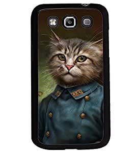 Printvisa Cat In A Uniform Back Case Cover for Samsung Galaxy Quattro i8552::Samsung Galaxy Quattro Win i8552