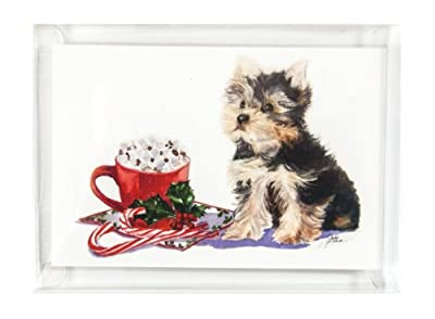 Rainbow Card Company Christmas Cards with Envelopes, Yorkie, Set of 10