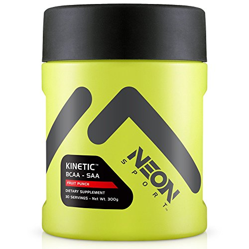 Neon Sport  Kinitic BCAA and SAA Amino Acid Supplement, Fruit Punch, 30 Servings
