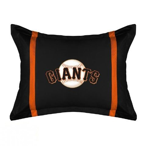 Mlb San Francisco Giants Black Sideline Pillow Sham front-32372