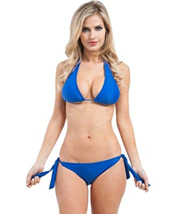 G2 Chic Women's Knot Side 2 Piece Swim Set(SW-2PC,BLU-S)