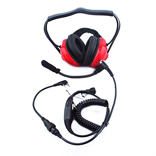 must have gadgets farmunion professional noise cancelling headset overhead earpiece boom mic microphone ptt for kenwood hytera puxing wouxun tk series baofeng uv 5r two way