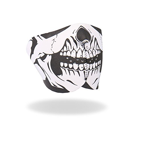 Hot Leathers Neoprene Skull Half Mask (Black) (Hot Leathers Face Mask compare prices)