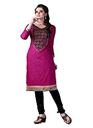 Aaliya magenta colored dress material