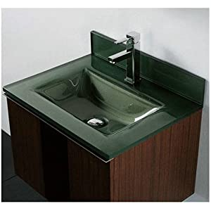 Tempered glass countertop bathroom sink sink finish for Tempered glass countertop