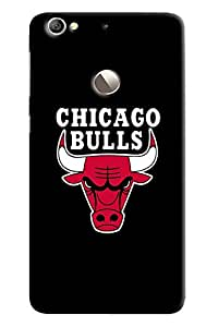 Blue Throat Red Hot Chicago Bull Printed Designer Back Cover For LeTv Le 1s