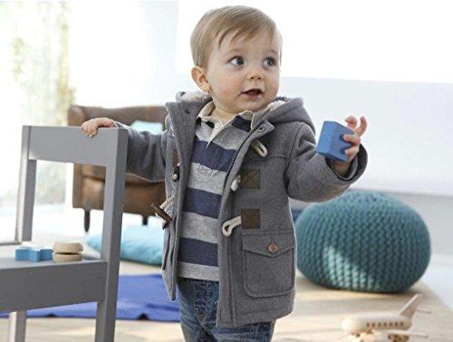 Jinru01 Fashion winter children kids baby boys infant outerwear coat baby kids boys jacket coat 2-6Years Grey 2t