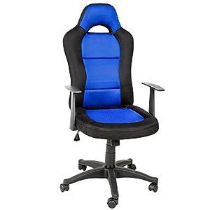 Tectake silla de oficina sillon de despacho estudio - Silla estudio amazon ...