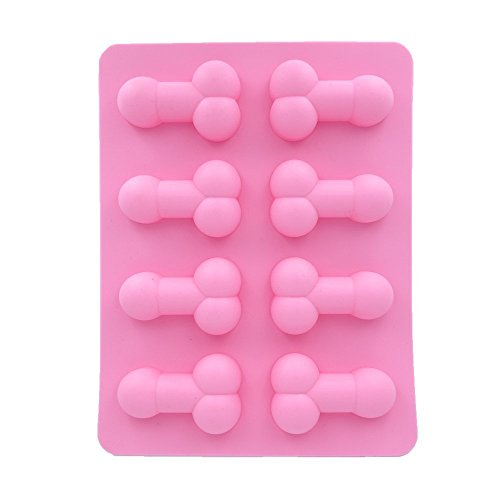 CountyLinen Penis Cake Chocolate Mold Silicone Ice Cube Soap Tray Mold for Bachelorette Party Favors (Shamrock Cake Pan compare prices)