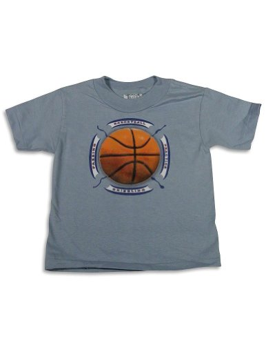 Mis Tee V-Us - Little Boys Short Sleeve Basketball T-Shirt, Light Blue 25403-2T front-259686