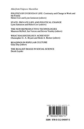 Interpreting the Past, Understanding the Present (Explorations in Sociology.)