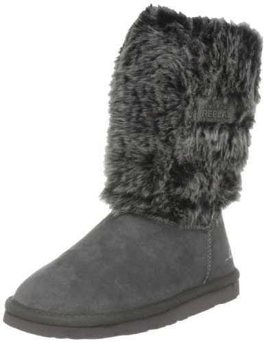 Replay Youth Cher Charcoal Grey Classic Boot Gbf01.202.C0011S.014 4 UK