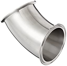 Dixon B2KMP-G400 Stainless Steel 304 Sanitary Fitting, 45 Degree Clamp Elbow, 4\