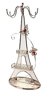 Juliana Paris Postcard Glass & Wire Jewellery Hanger / Holder - Eiffel Tower