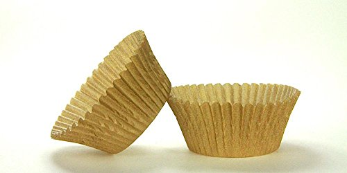 50pc Solid Gold Color Standard Size Cupcake Baking Cups Liners Wrappers (Solid Color Baking Cups compare prices)