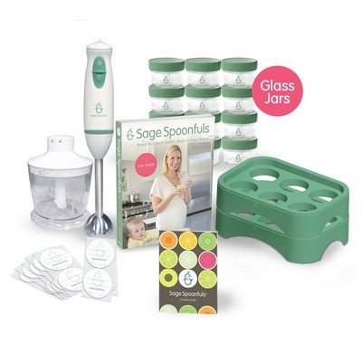 Baby Food Making And Storage Kit - The Let's Get Started Package With Glass Jars By Sage Spoonfuls
