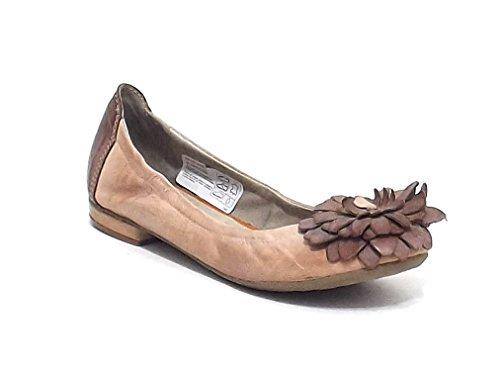 Manas Lea Foscati scarpa donna, ballerina in pelle, colore cipria