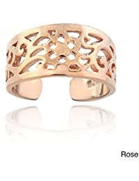 RG Jewellery 14k Rose Gold Plated 925 Sterling Silver Toe Ring