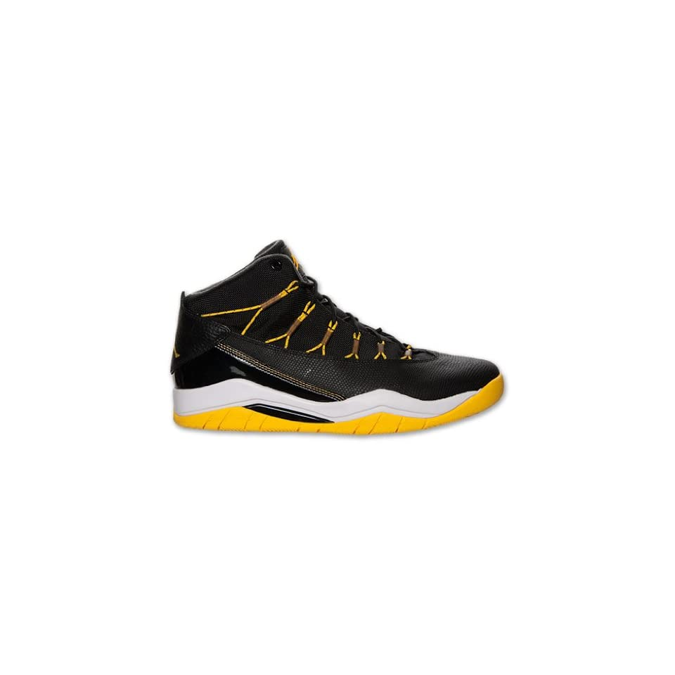 Nike Jordan Mens Jordan Prime Flight Black/Varsity Maize/White Basketball Shoe 8 Men US