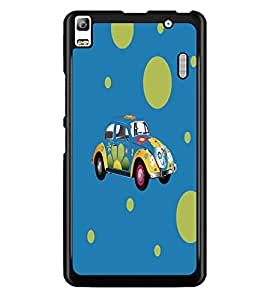 PrintDhaba Floral Car D-5575 Back Case Cover for LENOVO K3 NOTE (Multi-Coloured)