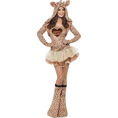 Sexy Giraffen Kostüm braun M 40/42 Giraffenkostüm Giraffe Damenkostüm Dreamgirlz Tierkostüm Zoo Frauenkostüm