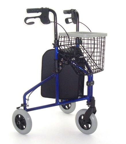Z-TEC - Deluxe Lightweight Aluminium Tri-Walker In Blue.