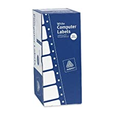 Avery Continuous Form White Computer Labels for Pin-Fed Printers, 4 x 1.9375 Inches, Box of 5000 (04022)