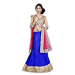 Triveni Art Silk Lehenga Choli (TSAB2071B_Blue)