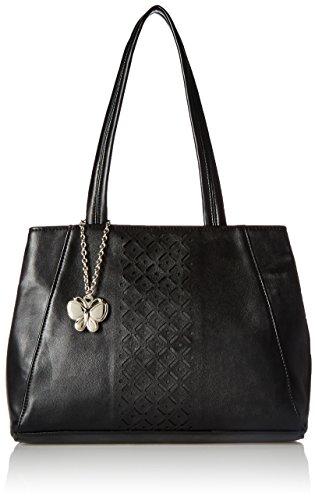 Butterflies Women's Handbag (Black) (BNS 0586BK)