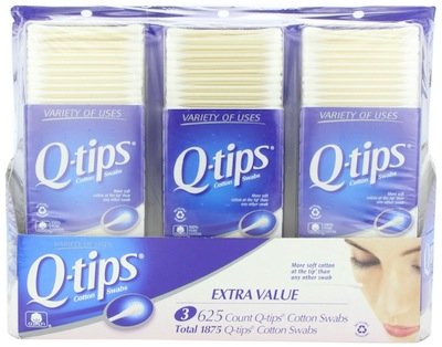 8 Wholesale Lots 3 Pack Q-Tips Cotton Swabs 1875 Count Total 15000 Cotton Swabs