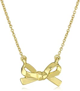 "kate spade new york ""Skinny Mini"" Gold-Tone Bow Pendant Necklace"