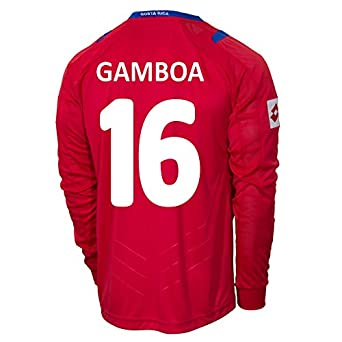 Buy Lotto GAMBOA #16 Costa Rica Home Jersey World Cup 2014 (Long Sleeve) by Lotto