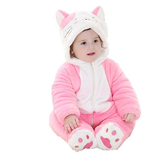XMiniLife Halloween Thicken Infant Romper,Baby Outfit,Colorful Cat