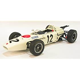 diecast car of Honda RA272 F1 1965 Mexico GP #12 Bucknum 1/20 Scale Diecast Model