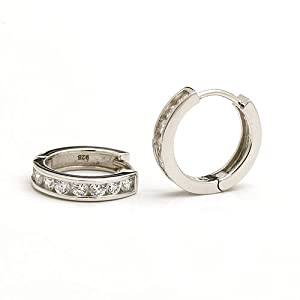 Click to buy 1 Carat Sterling Silver Hoop Earrings from Amazon!