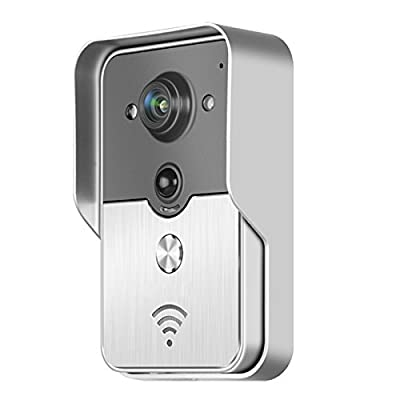 Wifi Doorbell Smart Bell Peehole Camera PIR Ir Night Vision Alarm
