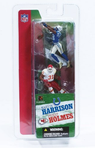 MARVIN HARRISON / INDIANAPOLIS COLTS & PRIEST HOLMES / KANSAS CITY CHIEFS * 3 INCH * McFarlane's NFL Sports Picks Series 1 Mini Figure 2-Pack