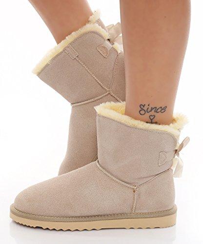 skutari-damen-winterstiefel-gefuttert-bow-boots-leder-schneestiefel-beige-grosse-38