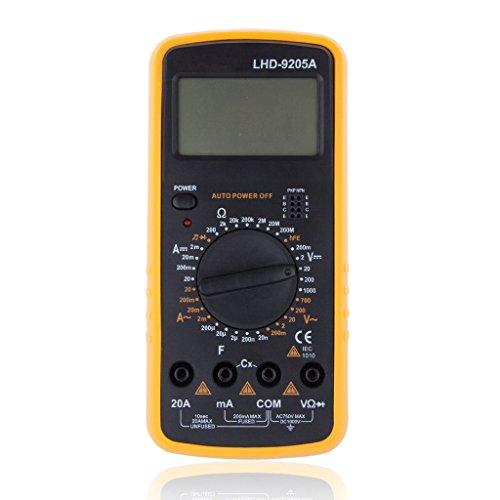 RXYYOS® LDH-9205A Digital Multimeter Messgerät LCD Amperemeter Voltmeter Stromtester + Messleitungen