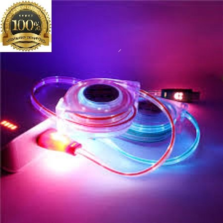 iphone Cable Charging Led Light retractable black charger cable with smiley faces 5, 5s, 5c, 6, 6s, 6 , 7 ,7s,7 plus, iPad 4, Mini 2 3, iPad Air 2 3, iPod Touch 5, iPod Nano 7 , 6 month warranty (Phones And Accesories compare prices)