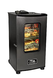 Masterbuilt 20070411 30-Inch Top Controller Electric Smoker with Window and RF Controller