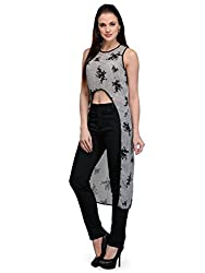 Bumpkin Womens Georgette (B1013_Printed_L _Black And White _Large)