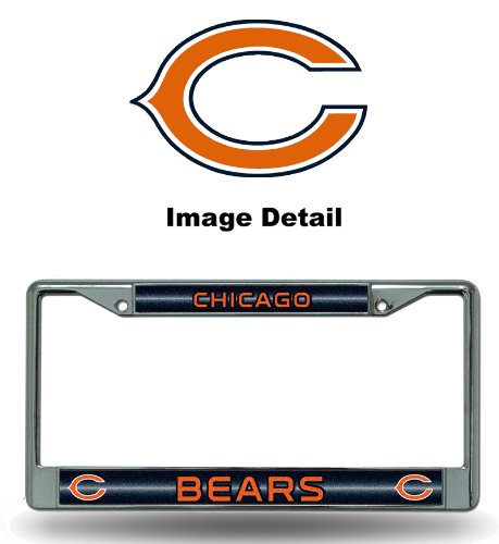 NFL Chicago Bears Bling Chrome Plate Frame (Sports Team License Plate Frames compare prices)